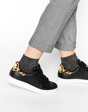 adidas negras leopardo