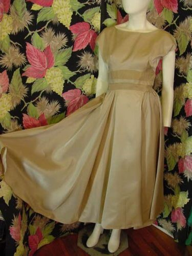 50s Taupe satin