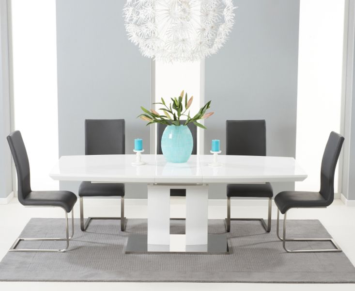 Courbe Is An Ultra Modern Extending High Gloss White Dining Table Amusing Ultra Modern Dining Room Inspiration Design