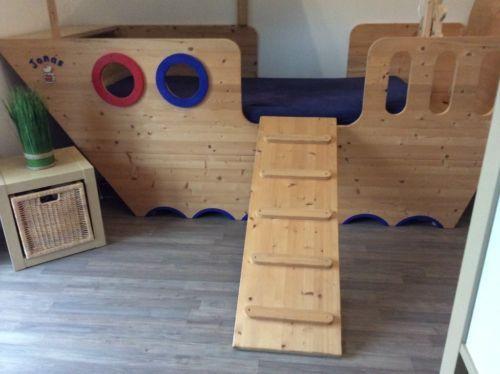 Steuerrad Holz Kinderzimmer | 1 Piratenbett Abenteuerbett Hochbett Mit Leiter Und Steuerrad