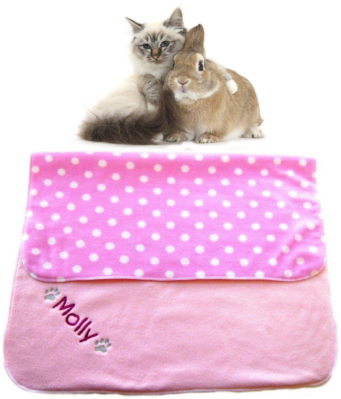 Spoilt Rotten Pets 70cm x70cm BABY PINK POLKA DOT Luxury