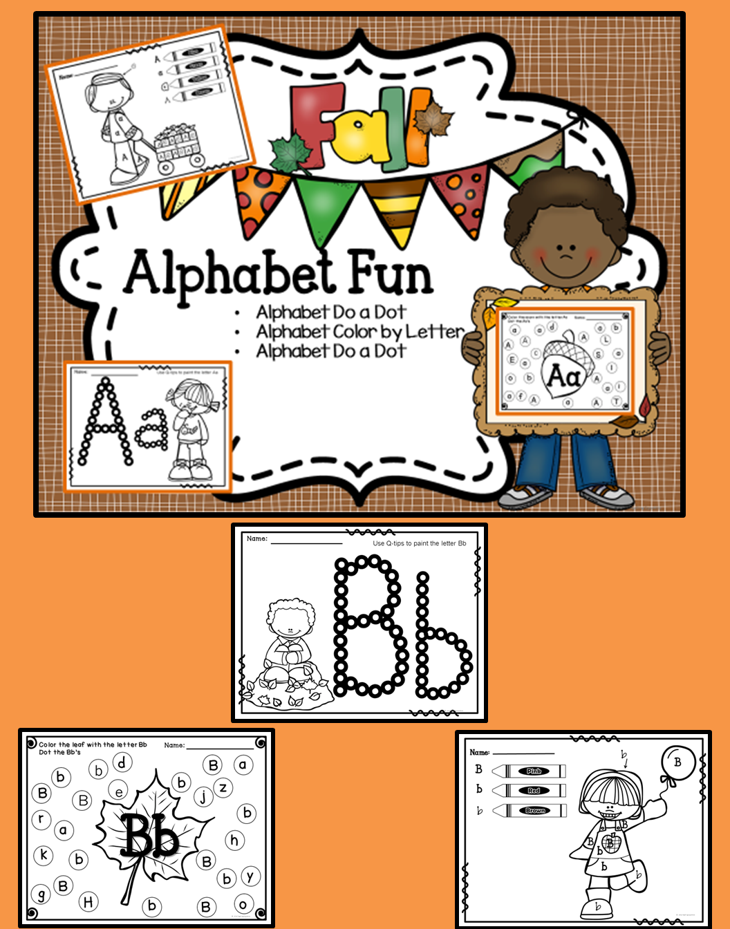 This is a bundle set of my fall alphabet pages this is a fun filled