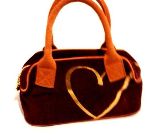 Victoria's Secret Velour Satchel Handbag Speedy Purse #VictoriasSecret #HandbagSpeedy