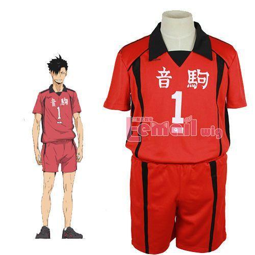 Haikyuu! Karasuno High School Uniform Jersey No.11 Kei Tsukishima Cosplay Anime