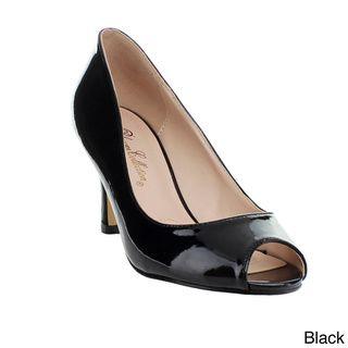 Blossom Women's 'Adam-3' Patent Pointed Peep-toe Heels | Overstock.com Shopping - Great Deals on Blossom Heels