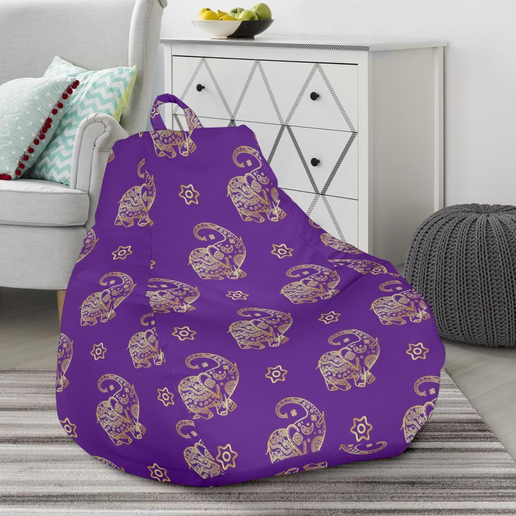 Park Art My WordPress Blog_Purple Fluffy Bean Bag Chair