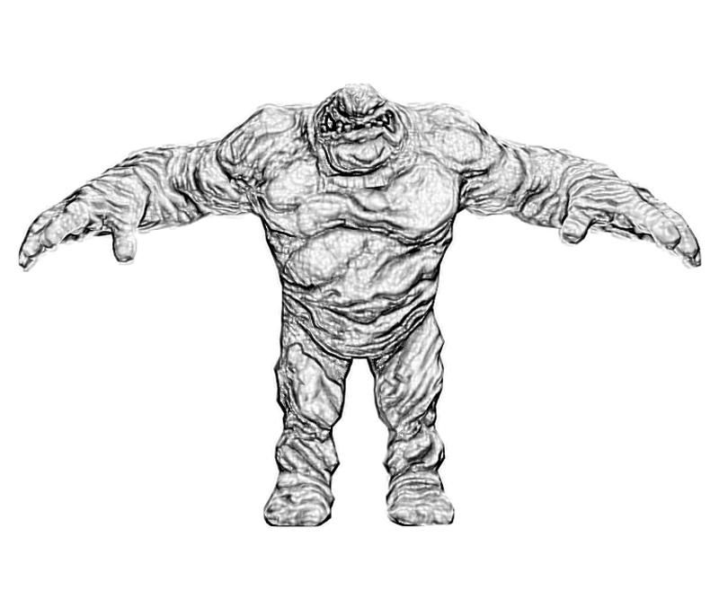 Batman Arkham City Clayface Character Coloring Pages