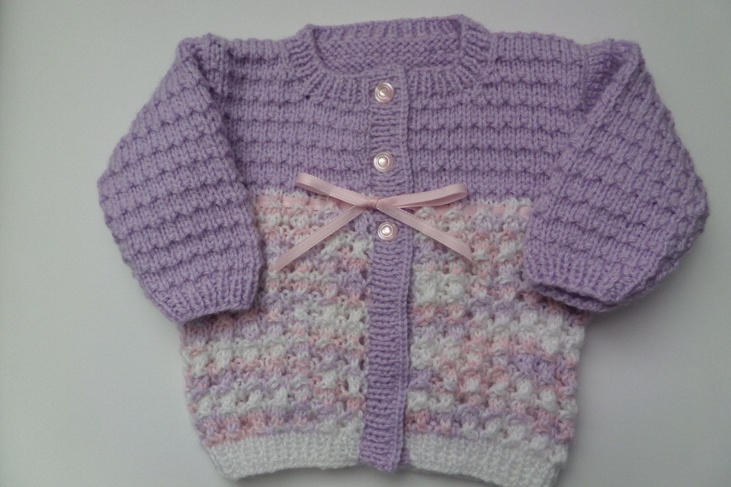 f7271404ef7d Baby Girl Sweater Hand knitted Multicolored fancy by HRStuff