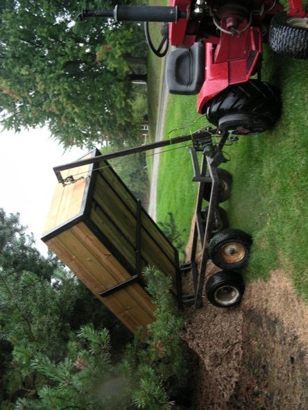 Enclosed Bed Google Search: Garden Tractor Trailer - Google Search