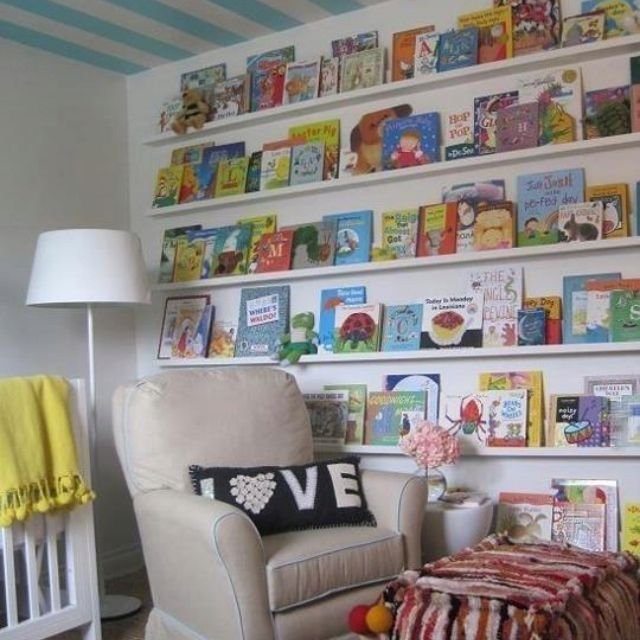 Play And Study Room: Children's Library In Kids Play/study Room