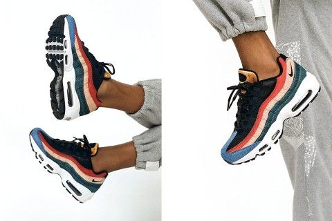 air max 95 calf hair suede and mesh sneakers