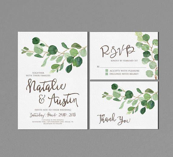 Grüne Hochzeit Einladung Druckbare, Rustikale Hochzeits Suite, Moderne  Outdoor Hochzeit Lädt,