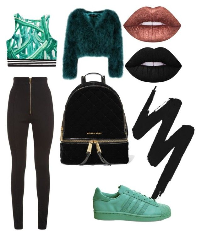 """""""Casual1"""" by cami-lanfranconi-cl on Polyvore featuring moda, Balmain, MICHAEL Michael Kors, Urban Decay, adidas e Lime Crime"""