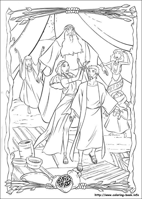 The Prince Of Egypt Coloring Picture Book PagesColoring Sheets Adult
