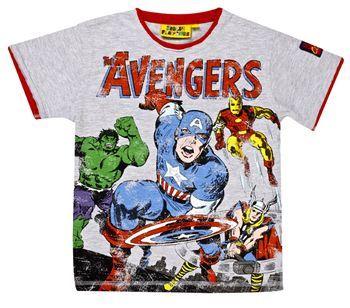 FFAV01 Captain America Avengers T-Shirt - Marvel Including Spider-Man - Fabric Flavours - for Zak