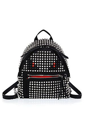 fbb767b16e Fendi Monster Mini Studded Nylon Backpack