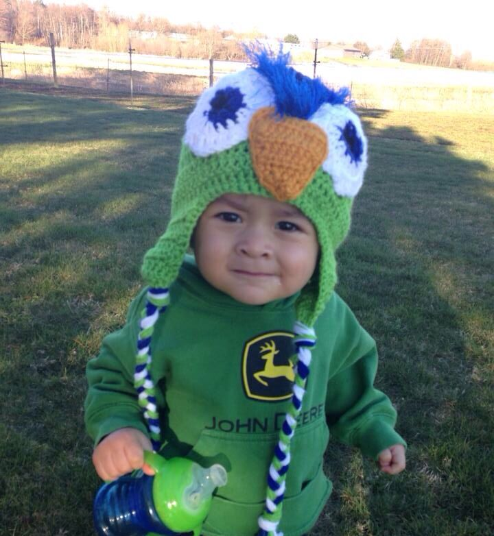 Seahawks beanie for toddlers !!!