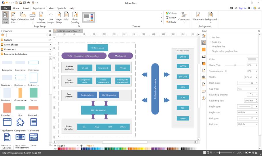 Editable Enterprise Architecture Diagram Templates in 2020