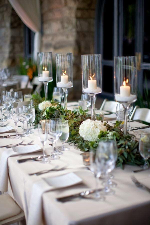 5 centros de mesa para bodas con copas de vidrio centros - Mesas de cristal para bodas ...