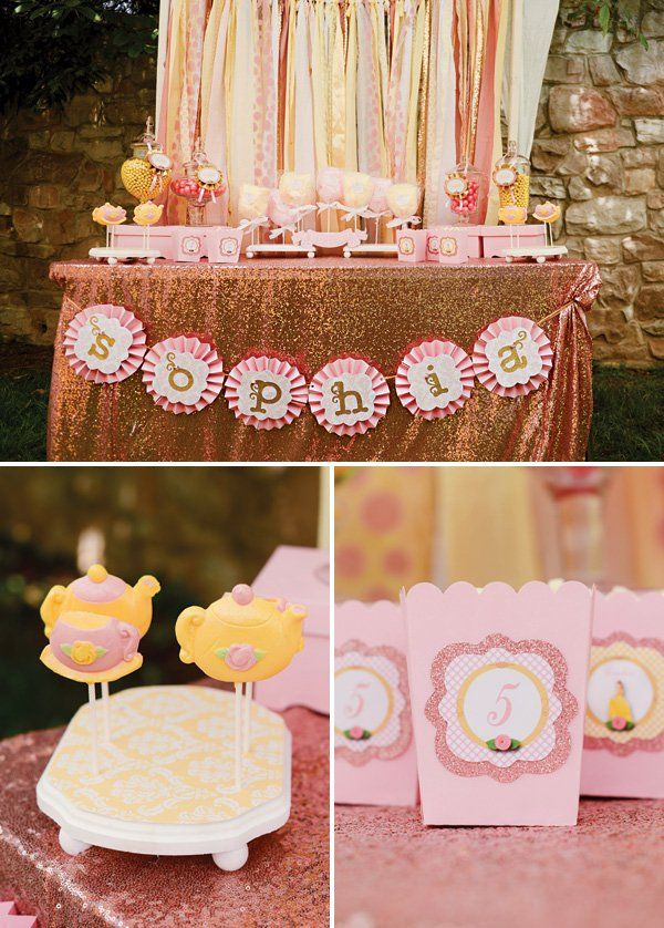 Princess Belle Party Decorations Belle Inspired Princess Tea Party Birthday Be Our Guest