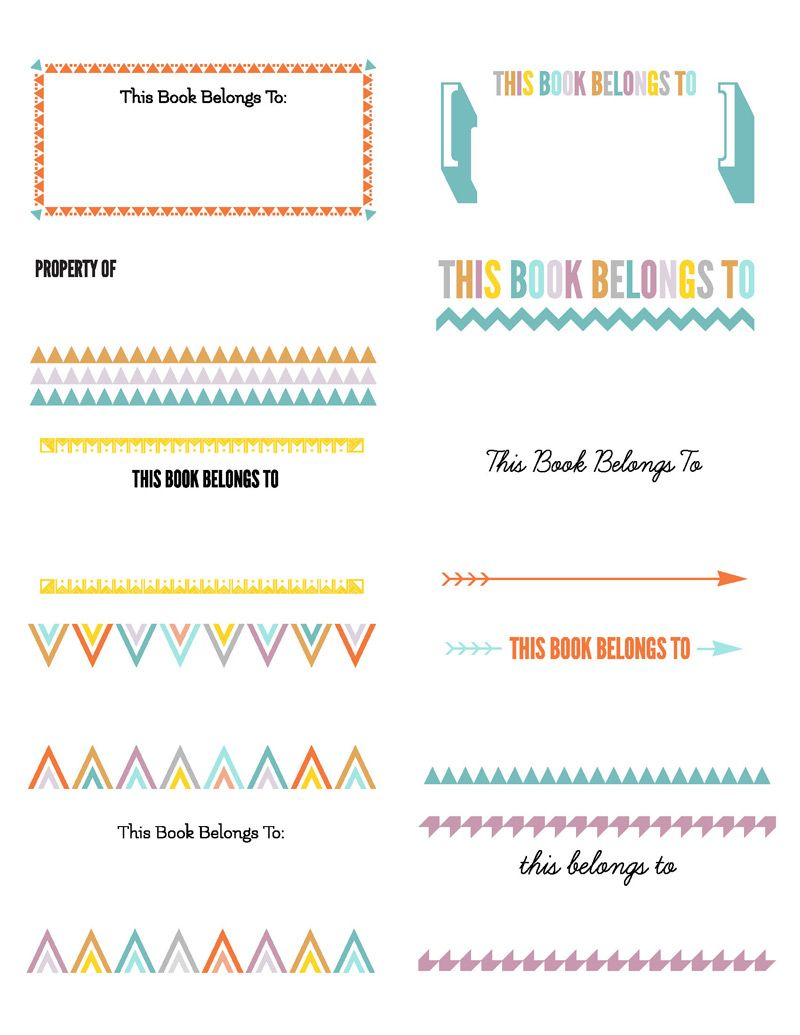 BookPlatesColor For Avery X Toasheet Labels Printables - 2x4 label template pdf