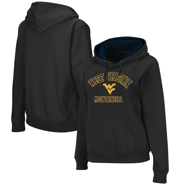 Women's Stadium Athletic Charcoal West Virginia Mountaineers Arch & Logo II Pullover Hoodie #westvirginia
