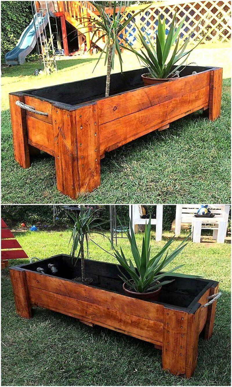 Ingenious Ideas Reuse Shipping Wood Pallet Gardens
