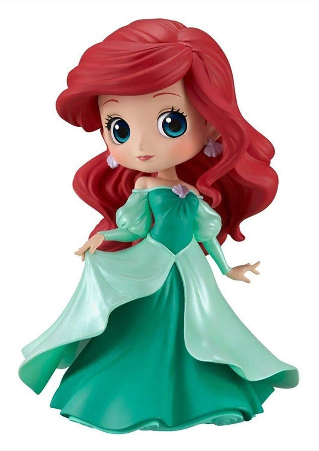 Q Posket Disney Characters Ariel Princess Dress Version Mint Green Banpresto