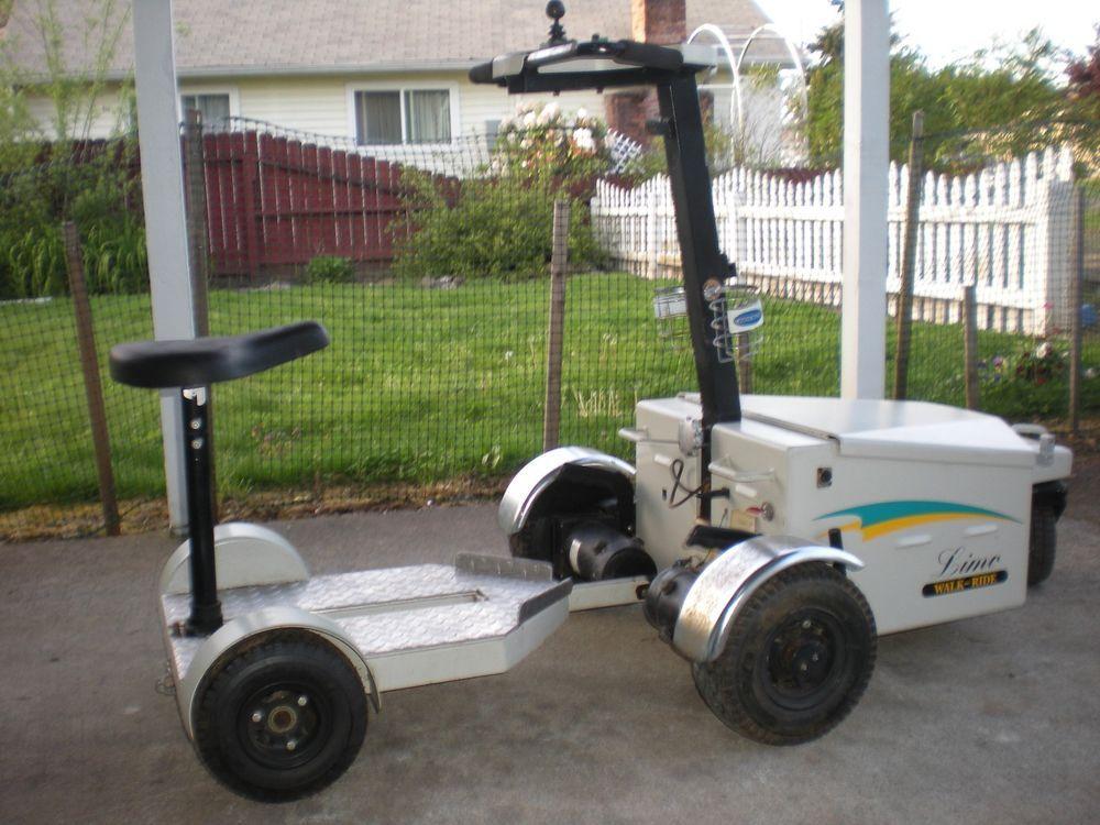 Vintage Motorized Golf Caddy Limo Walk Ride Rare