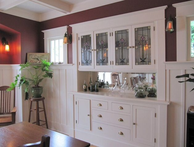 Beautiful Built In Craftsman Dining Room Built In Buffet House Flooring