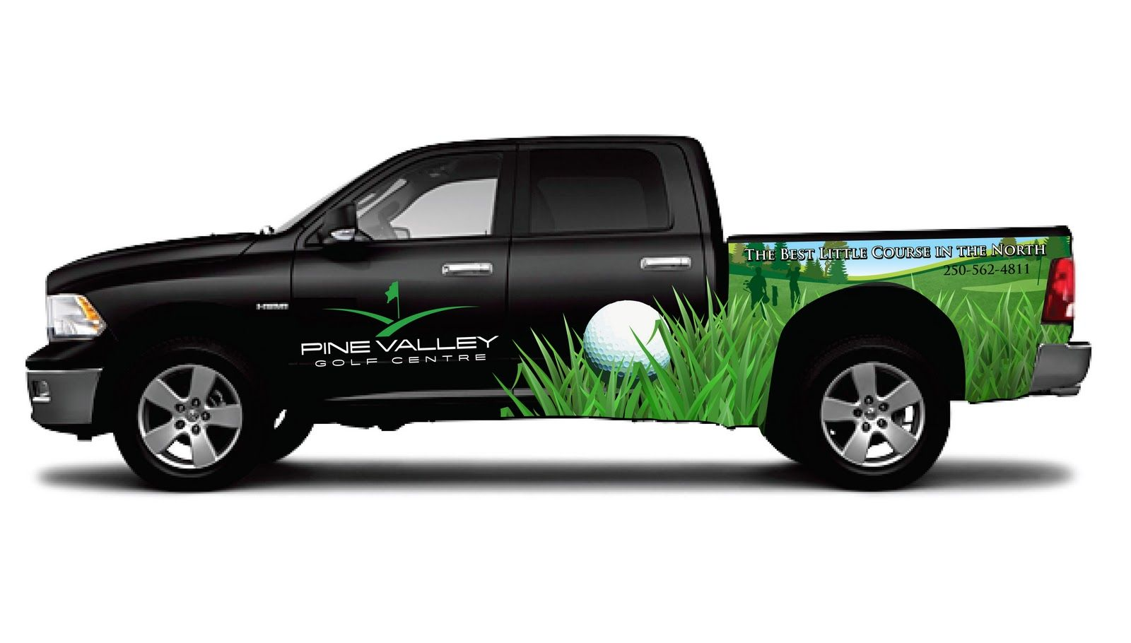 Partial Truck Wrap For A Golf Course Vehicle Signs Mobile - Custom decal graphics on vehiclesvinyl car wraps in houston tx