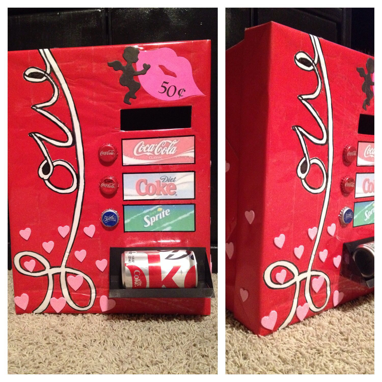 Vending Machine Valentine Box Valentine Day Boxes Valentine Card Box Girls Valentines Boxes