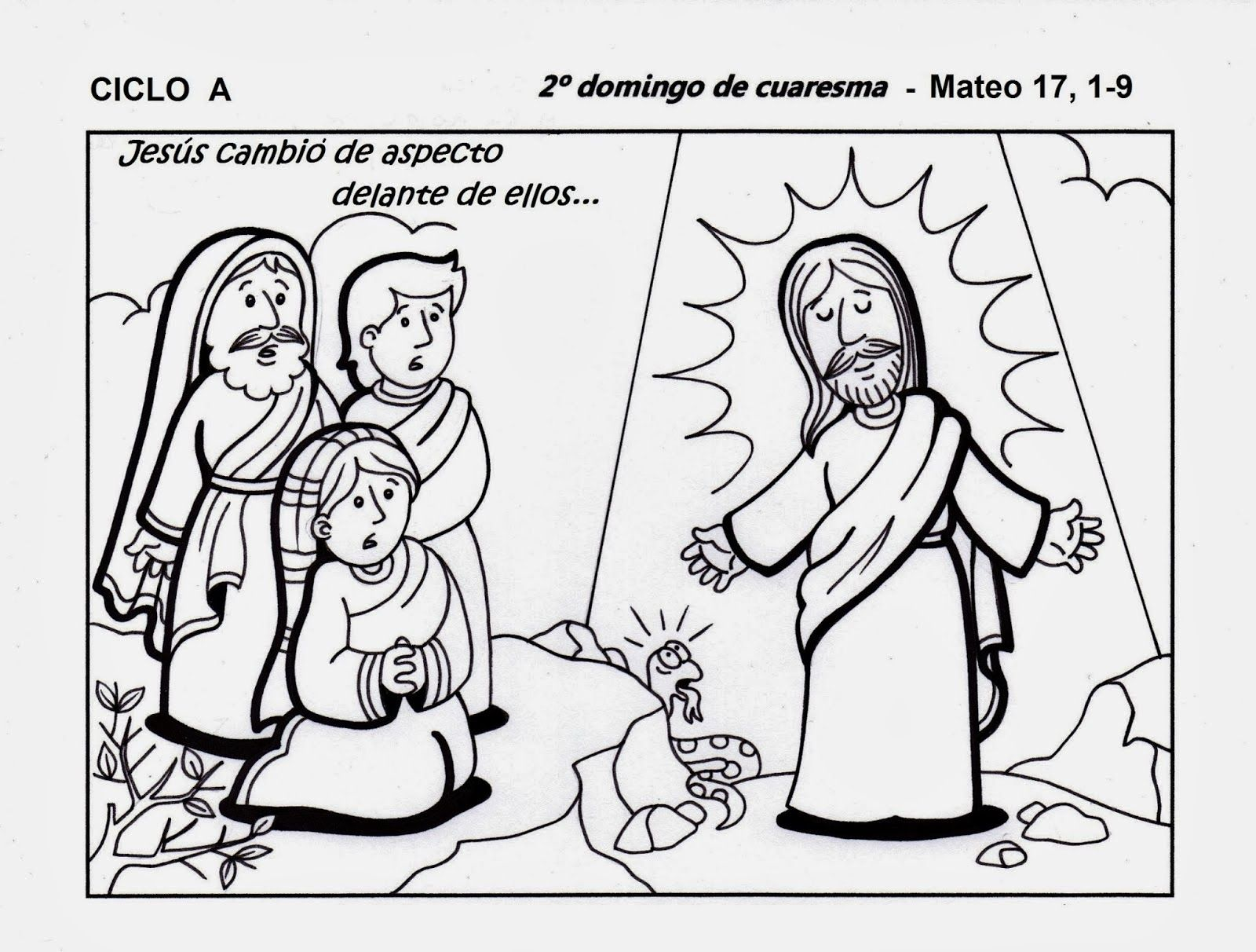 Resultado de imagen para la transfiguracion de jesus dibujos ...