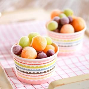 Frozen cantaloupe treats - perfect Summer snack on a hot day!