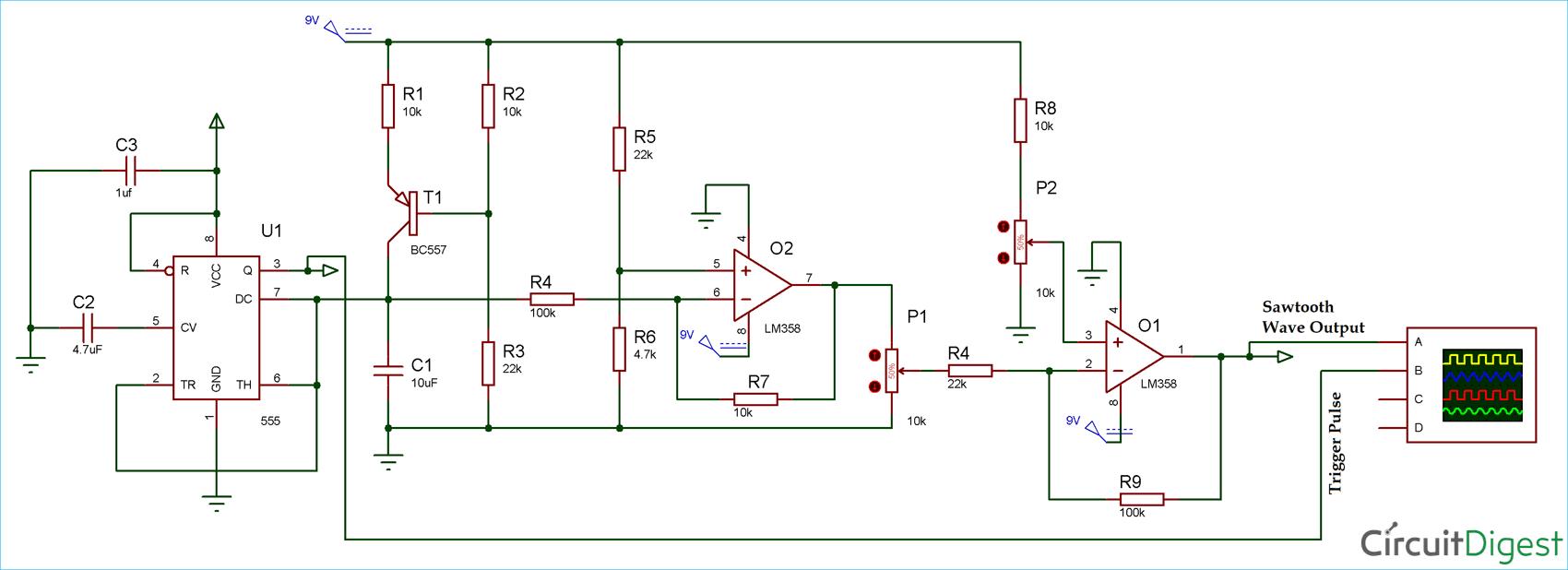 medium resolution of sawtooth waveform generator circuit diagram electronic circuit generator circuit electronic circuits and diagramelectronics