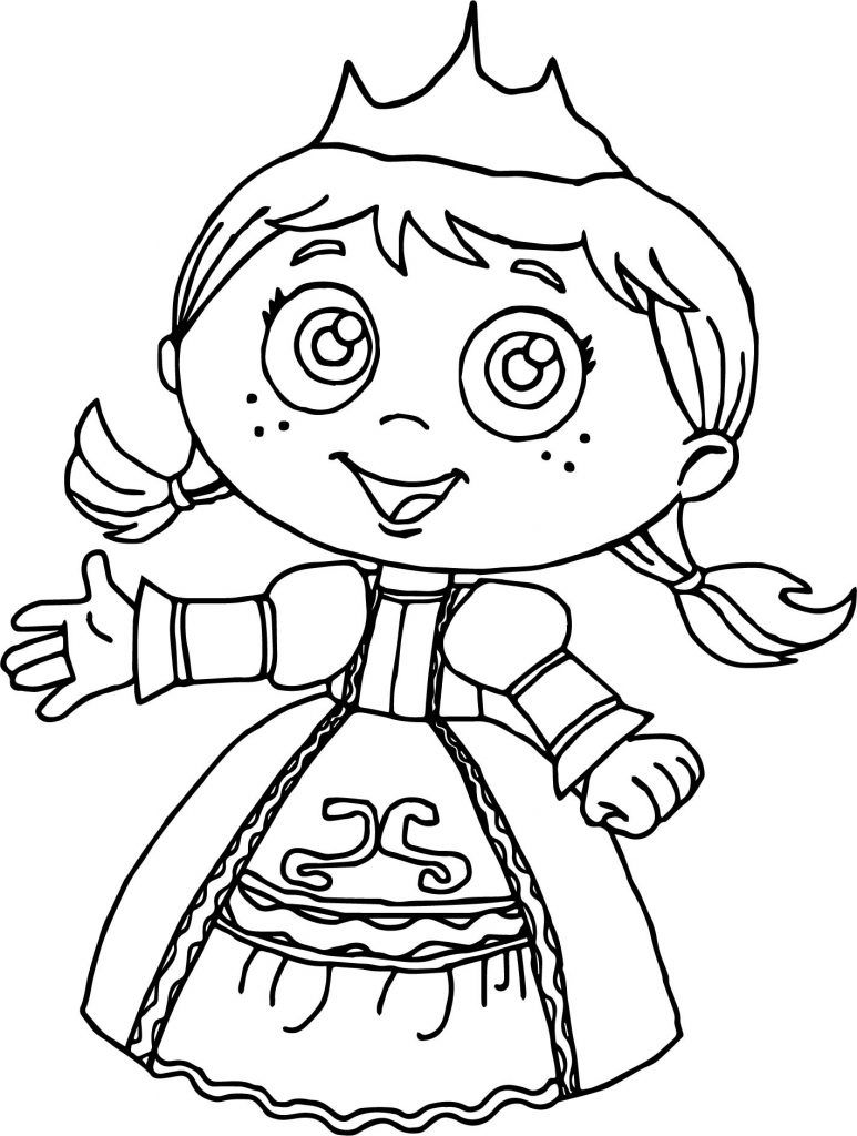 Super Why Coloring Pages | Super reader and Fairy