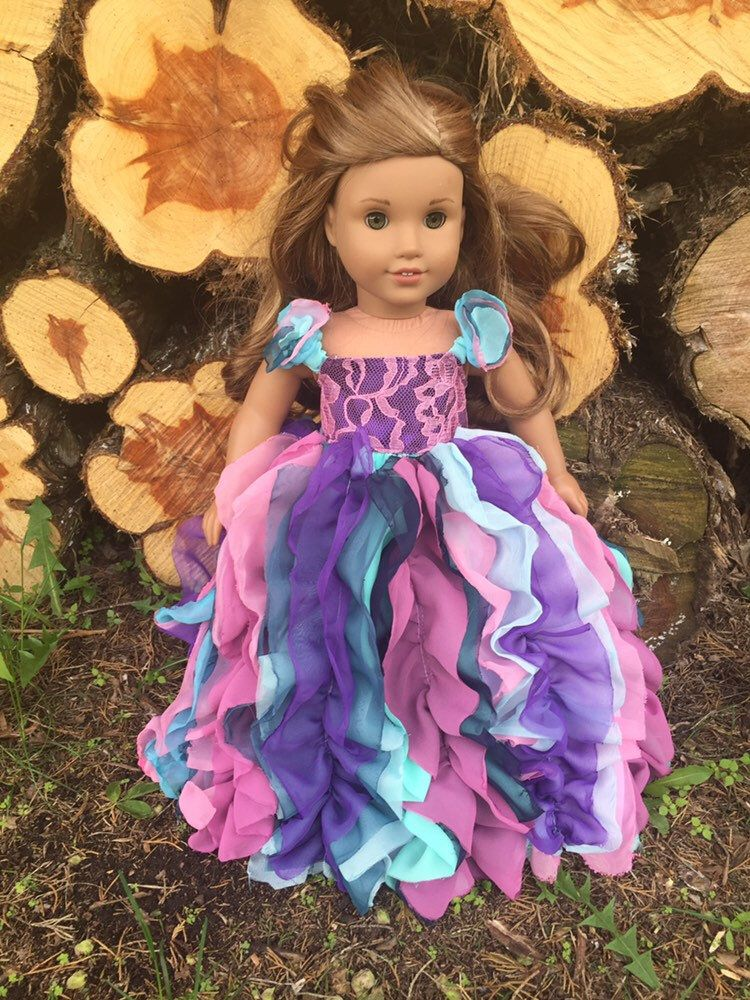 American Girl Custom OOAK Watercolor Rainbow Woodland