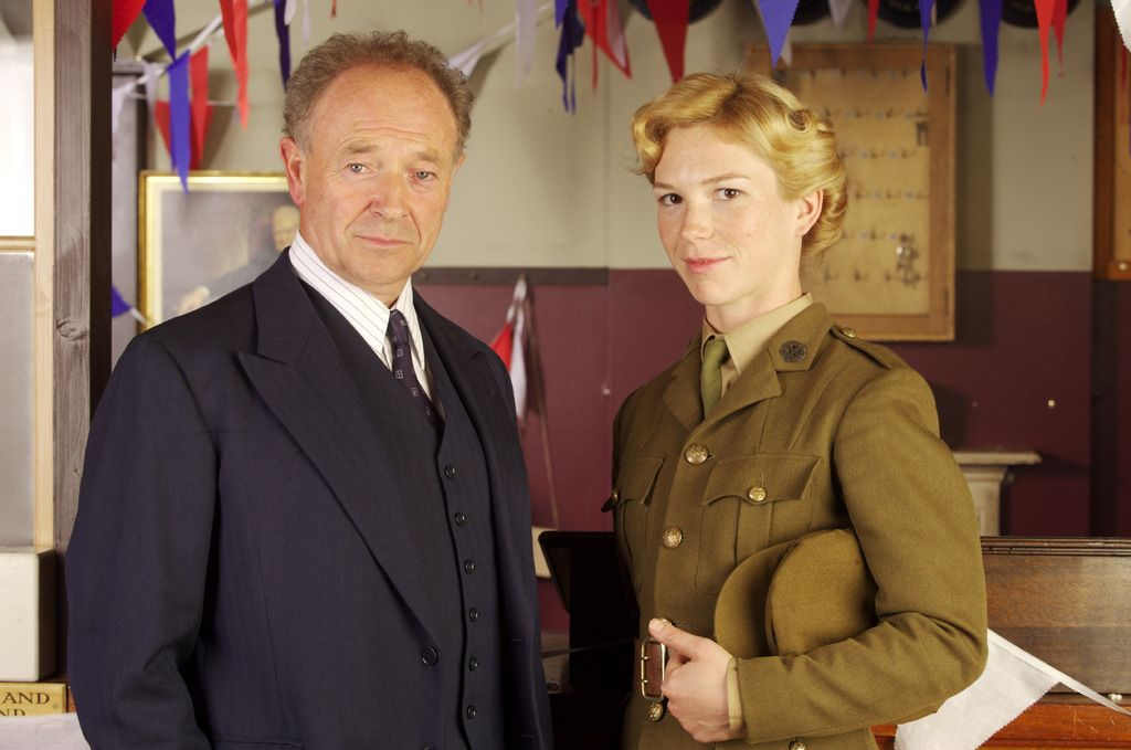 Foyle and Sam---Detecting doesn't get much better! Michael Kitchen and Honeysuckle Weeks in Foyle's War.
