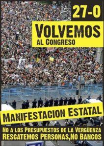 Manifestación #27O, volvemos al Congreso
