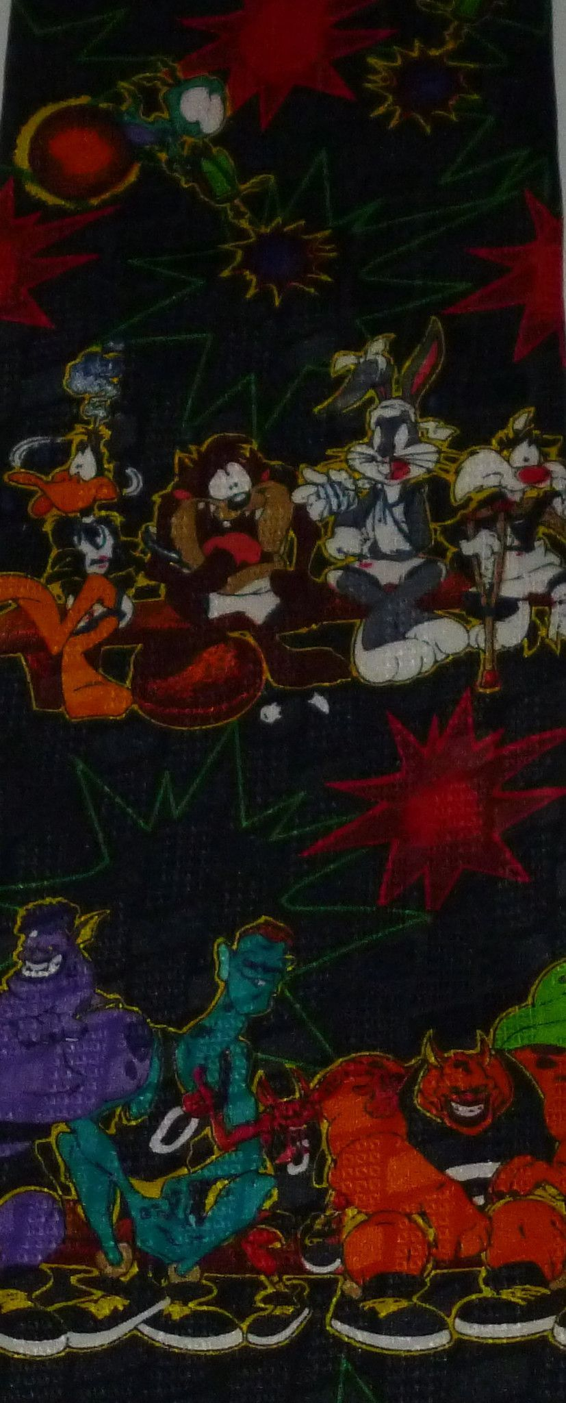 Tunes Space Jam Bugs Bunny Sylvester Daffy Duck Taz Tie # Taz Muebles De Oficina