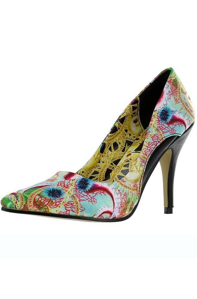 01c2ae6e1e1 Iron Fist Ladies Juansace Octopus Print - Pointy Toe Women s Vegan High Heel  Shoes