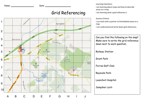 Forres Grid Reference Doc Ctm Geography Pinterest