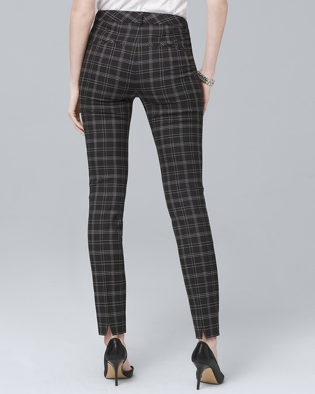 825f29fef7e7 Women's Comfort Stretch Plaid Slim Ankle Pants by White House Black Market