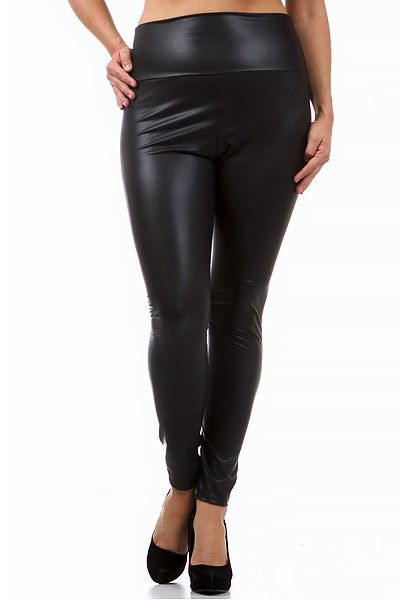 cb05e0a751434 Matte High Waisted Faux Leather Leggings - Plus Size in 2018 ...