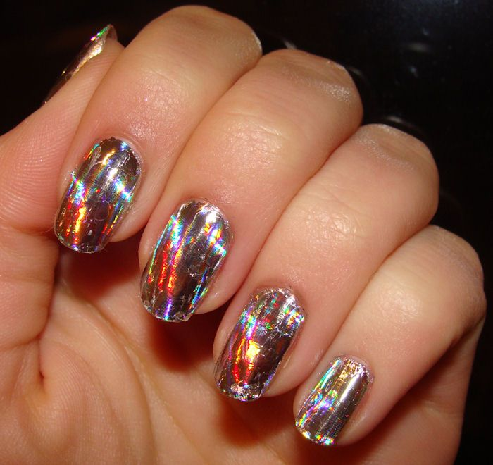 Multicolor   Foil nails, Nail art, Nails