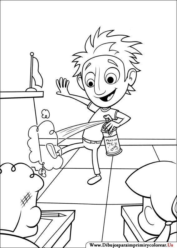 Dibujos de Lluvia de hamburguesas para Imprimir y Colorear | My ...
