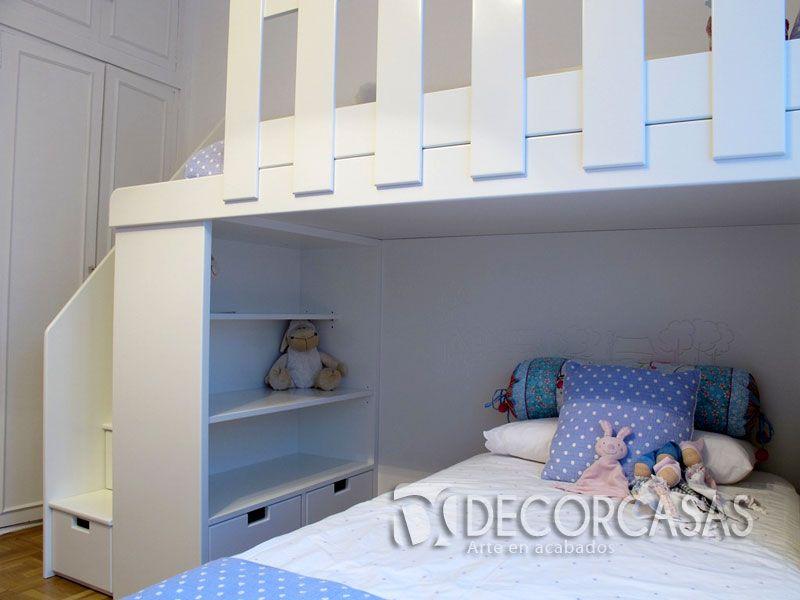 Lindos camarote para ni os funcionales ideales para for Closet para espacios pequenos