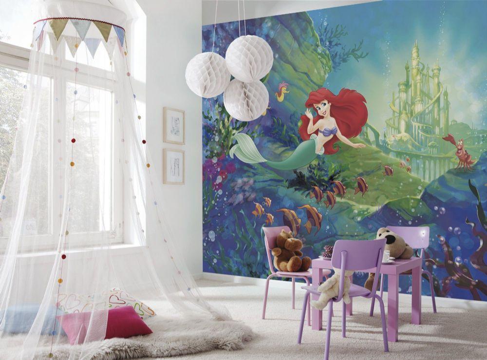 Ariel S Castle Wall Mural Wallpaper Disney Buy It Now Disney