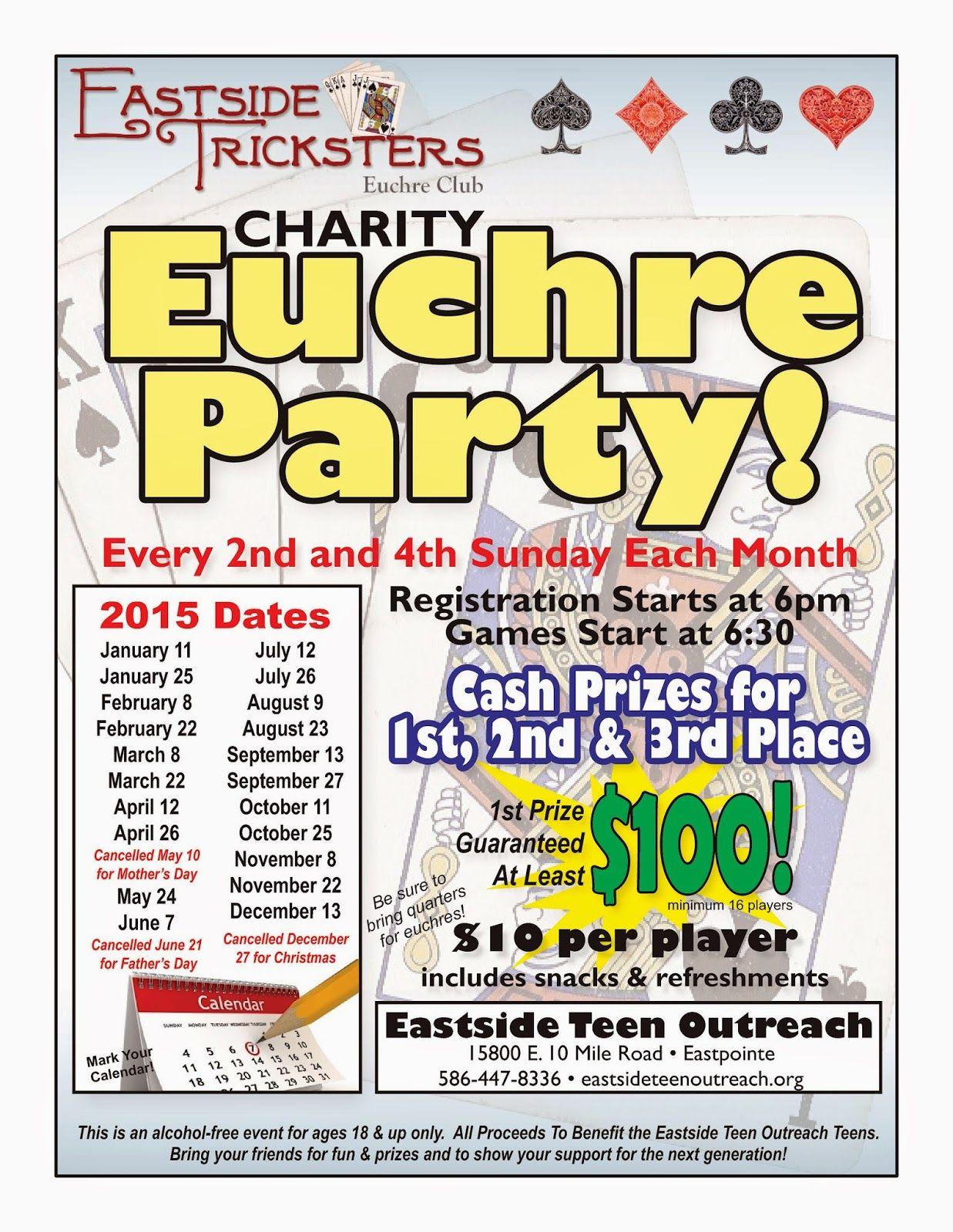 Euchre charity fundraiser eastpointe euchre fundraising