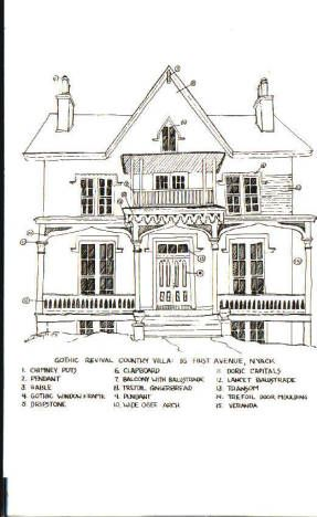 architectural features of a gothic revival country villa 16 first